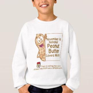 11月はピーナッツバターの恋人月です スウェットシャツ