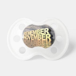 11月を覚えて下さい おしゃぶり