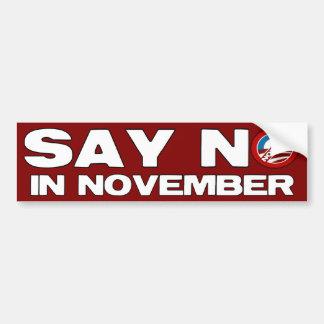 11月-反オバマのいいえ言わないで下さい バンパーステッカー