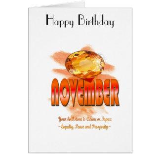 11月Birthstoneの挨拶状 カード