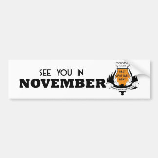 11月VAAのバンパーステッカーの会って下さい バンパーステッカー