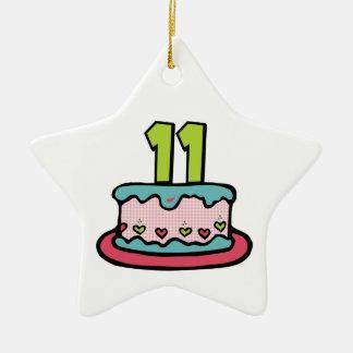 11歳のお誕生日ケーキ セラミックオーナメント