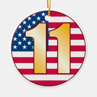 11米国の金ゴールド セラミックオーナメント