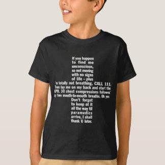 111+CPRの暗闇の子供のTシャツ Tシャツ