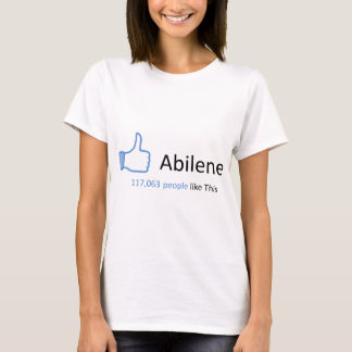 117063人はアビリンを好みます Tシャツ