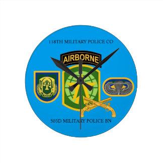 118TH憲兵の会社の時計 ラウンド壁時計