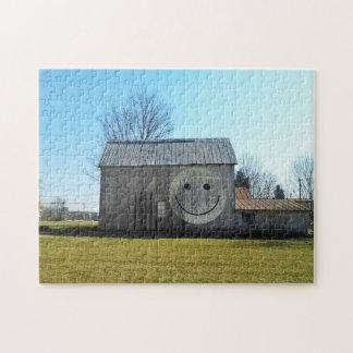 11x14パズルのヴィンテージのアメリカのスマイリーフェイスの納屋 ジグソーパズル