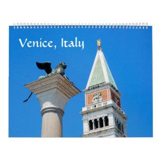 12か月のベニスの写真のカレンダー カレンダー