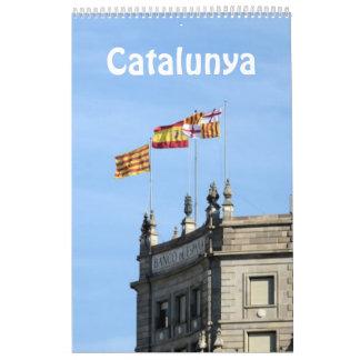 12か月のCatalunya (カタロニア)の2017年の写真のカレンダー カレンダー