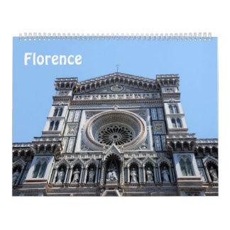12か月フィレンツェ、イタリアの写真のカレンダー カレンダー