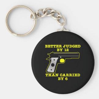 12によって黒い銃のよりよい実証済み キーホルダー