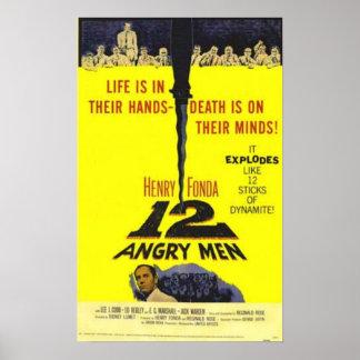12の怒っている人の映画のポスター ポスター