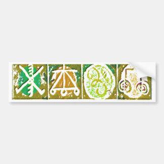 12の霊気n Karunaの治療のシンボルや象徴V14 バンパーステッカー
