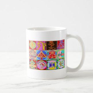 12の霊気n Karunaの霊気の治療のデザイン コーヒーマグカップ