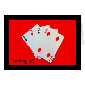 12を回すことは大事です! グリーティングカード