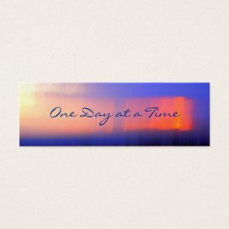 12ステップ抽象的な日没のプロフィールのカードかしおり スキニー名刺