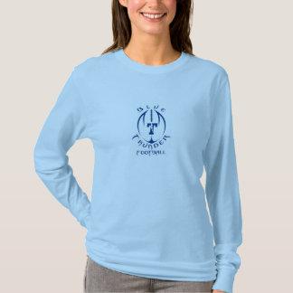 12以下の楽天家の青年フットボールの青い雷 Tシャツ