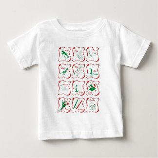 12日のクリスマス ベビーTシャツ