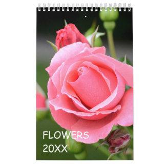12月の花柄 カレンダー