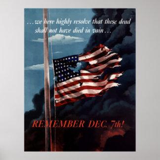 12月7日を覚えて下さい ポスター