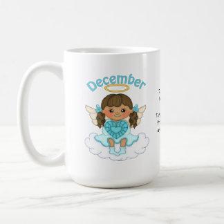12月Birthstoneの天使のブルネット コーヒーマグカップ