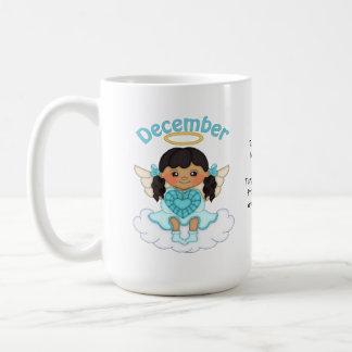 12月Birthstoneの天使の黒 コーヒーマグカップ