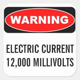 12000 MVの警告のステッカー スクエアシール