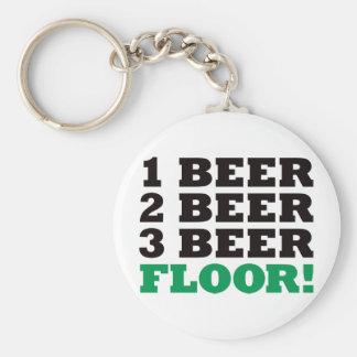 123のビール床-緑 キーホルダー