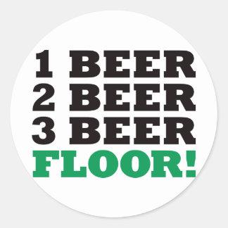 123|ビール|床|-|緑 丸形シールステッカー