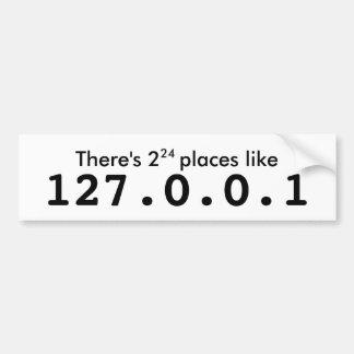 127.0.0.1のような2^24場所があります バンパーステッカー