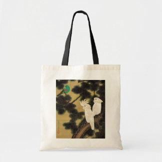 12. 老松鸚鵡図、若冲のマツ木及びオウム、Jakuchū トートバッグ