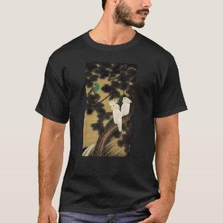 12. 老松鸚鵡図、若冲のマツ木及びオウム、Jakuchū Tシャツ