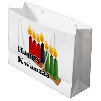 12-26幸せなKwanzaa ラージペーパーバッグ