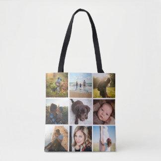 12 Instagramの正方形の写真のコラージュか写真 トートバッグ
