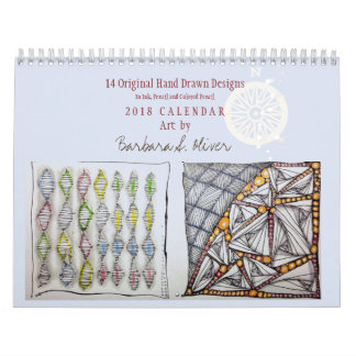 12 Month Calendar w/Original Art カレンダー