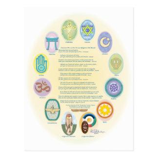 12Oraciones PorラパスDe Las Religiones Del Mundo ポストカード