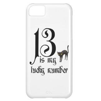 13は私の幸運な数です+黒猫 iPhone5Cケース