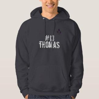 #13トマスはフード付きスウェットシャツを進めます パーカ