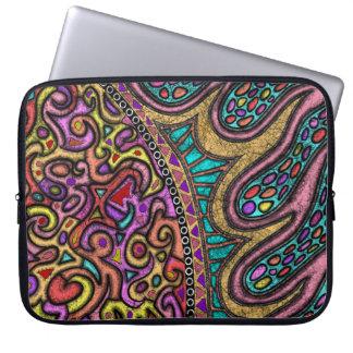 13'ラップトップの箱カバー袖の抽象美術のアートワーク ラップトップスリーブ