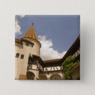 13世紀なぬかの城(Draculasの城)、 5.1cm 正方形バッジ