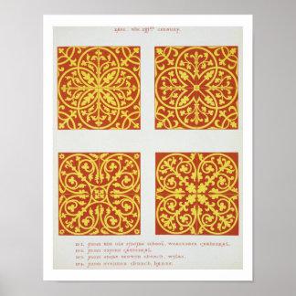 13世紀なタイルは、「Specからのイラストレーション設計します ポスター