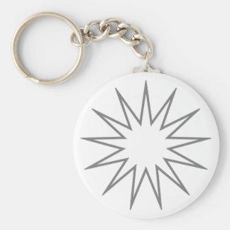13先の尖った星の灰色 キーホルダー
