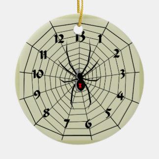 13時間の蜘蛛の巣の時計のオーナメント! 私をカスタマイズ! セラミックオーナメント