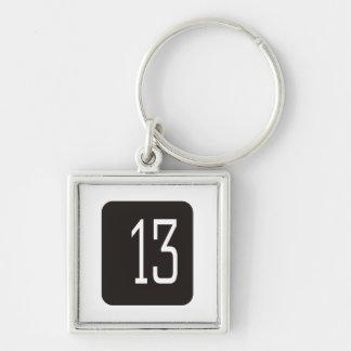 #13黒い正方形 キーホルダー
