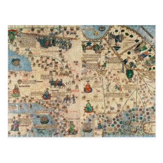 131-0058260/1カタロニアの地図書: Ja著アジアの詳細、 ポストカード