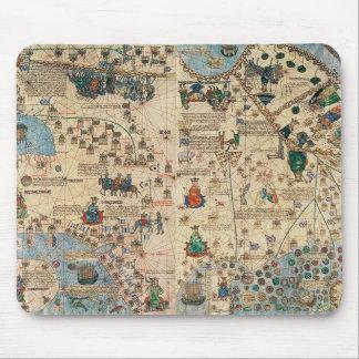 131-0058260/1カタロニアの地図書: Ja著アジアの詳細、 マウスパッド