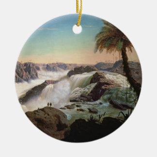 131-0059242パウロアルフォンソの滝1850年 セラミックオーナメント