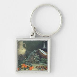 131-0059642果物と野菜が付いている静物画 キーホルダー