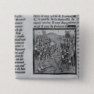 1346年にCrecyの戦い 5.1cm 正方形バッジ