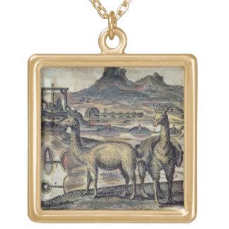 137-0627924 SHペルーの歴史からのイラストレーション ゴールドプレートネックレス